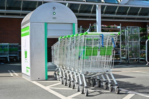 Asda takes cleaning to a new level outside stores with 'trolley wash'