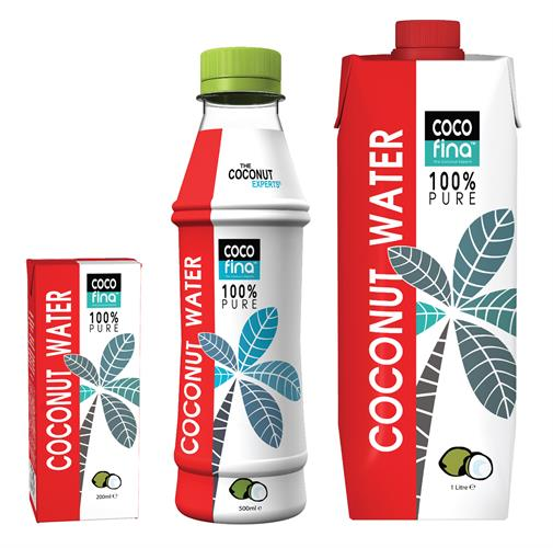 Dragons Den - Cocofina Coconut Water - 1L-500ml-200ml - M